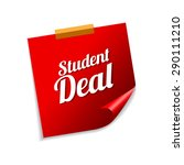 student deal red sticky notes... | Shutterstock .eps vector #290111210