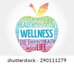 wellness apple word cloud... | Shutterstock .eps vector #290111279