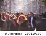 people crowd walking on busy... | Shutterstock . vector #290119130