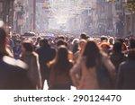 people crowd walking on busy...   Shutterstock . vector #290124470