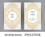 vintage ornate cards in... | Shutterstock .eps vector #290125328
