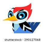 cute woodpecker | Shutterstock .eps vector #290127068