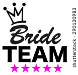 bride team  5 stars  crown ... | Shutterstock .eps vector #290130983