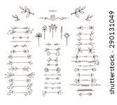 set of vector plant frames ... | Shutterstock .eps vector #290131049