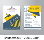 abstract triangle brochure... | Shutterstock .eps vector #290132384