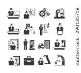 engineering icons set ... | Shutterstock .eps vector #290135756