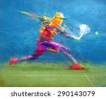 abstract tennis player | Shutterstock . vector #290143079