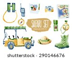 safari set. vector watercolor... | Shutterstock .eps vector #290146676