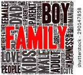 family info text graphics and... | Shutterstock .eps vector #290147858