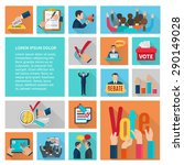 political elections and voting... | Shutterstock .eps vector #290149028