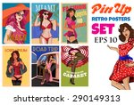 vector collection of pin up... | Shutterstock .eps vector #290149313