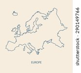 europe map outline vector | Shutterstock .eps vector #290149766