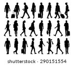 big set of black silhouettes of ... | Shutterstock . vector #290151554