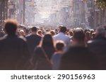people crowd walking on busy... | Shutterstock . vector #290156963