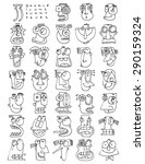 thirty three doodle icons funny ... | Shutterstock .eps vector #290159324