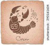 cancer zodiac sign horoscope...   Shutterstock .eps vector #290161604