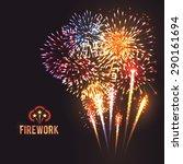 festive firework rockets... | Shutterstock .eps vector #290161694