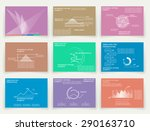 brochures for business reports  ... | Shutterstock .eps vector #290163710