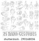 25 realistic hand gestures.... | Shutterstock .eps vector #290168036