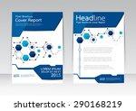 vector design for cover report... | Shutterstock .eps vector #290168219