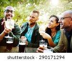 diverse people friends hanging... | Shutterstock . vector #290171294