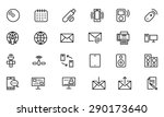 communication vector line icons ... | Shutterstock .eps vector #290173640
