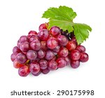 bunch of ripe red grapes with...