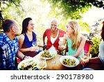 friends friendship outdoor... | Shutterstock . vector #290178980