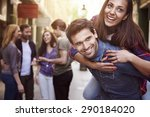 happy time only with my friends | Shutterstock . vector #290184020
