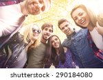 great weekend with my friends  | Shutterstock . vector #290184080