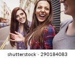 she is always in such good mood  | Shutterstock . vector #290184083