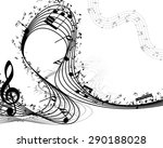 musical background. eps 10... | Shutterstock .eps vector #290188028