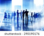 silhouette people discussion... | Shutterstock . vector #290190176