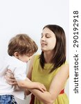 mother and son  mother care or... | Shutterstock . vector #290192918