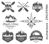 set of kayak and canoe emblems  ... | Shutterstock .eps vector #290195984