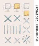 trendy retro vintage insignias... | Shutterstock .eps vector #290198264