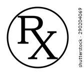 medicine symbol rx prescription | Shutterstock .eps vector #290204069