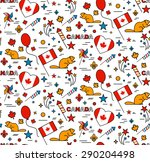 seamles pattern for canada day... | Shutterstock .eps vector #290204498