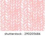 seamless pattern of knitting... | Shutterstock .eps vector #290205686
