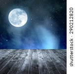 night sky with stars and moon.... | Shutterstock . vector #290212820