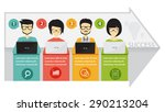 coworking and team working ... | Shutterstock .eps vector #290213204