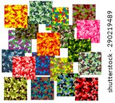 set of seamless camouflage... | Shutterstock .eps vector #290219489