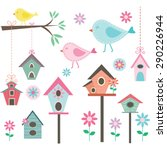Little Bird Bird Houses Birds...