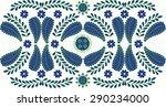 beautiful hungarian folk art...   Shutterstock .eps vector #290234000
