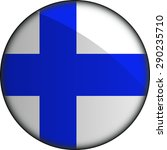 flag of finland as round glossy ... | Shutterstock .eps vector #290235710