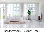 large spacious monochromatic... | Shutterstock . vector #290242253