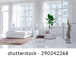 modern monochromatic bedroom... | Shutterstock . vector #290242268