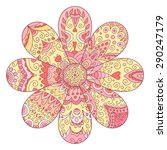 abstract vector flower isolated ... | Shutterstock .eps vector #290247179