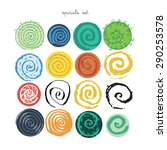 Spirals Vector Set Illustration