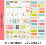 big set of romantic and cute... | Shutterstock .eps vector #290256629